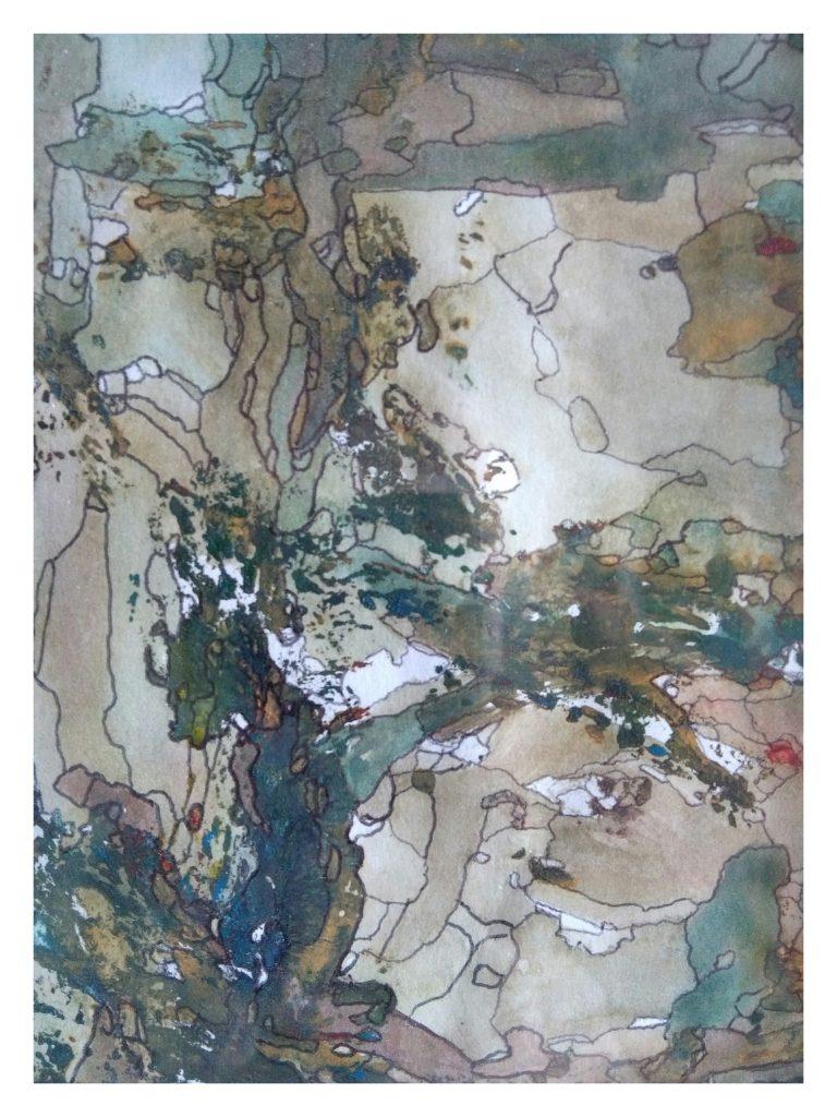 Aquarelle et encre sur papier (10x15).