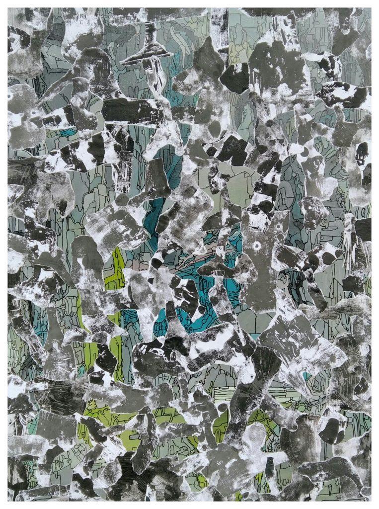 Acrylique sur toile marouflée. (130x97).