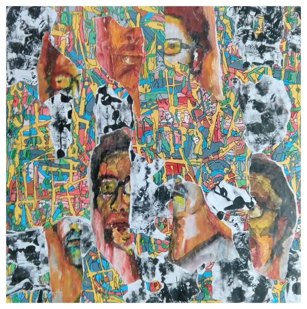 Acrylique sur toile marouflée (100x100).