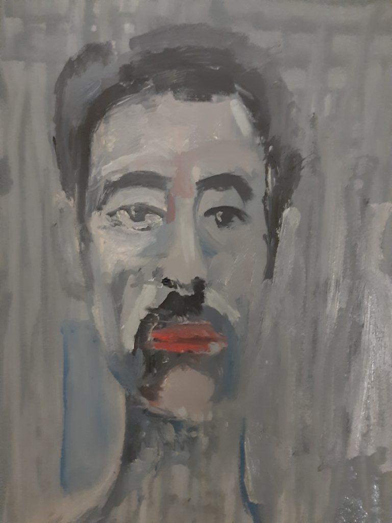 Peinture à l'huile sur papier.